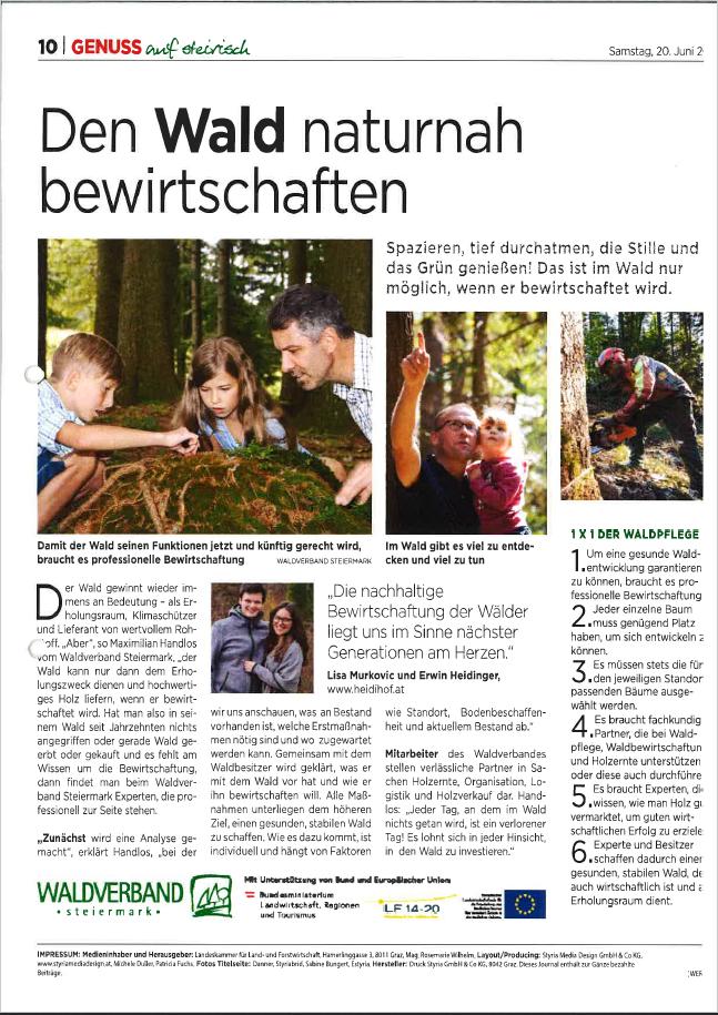 Kleine Zeitung_Den Wald naturnah bewirtschaften