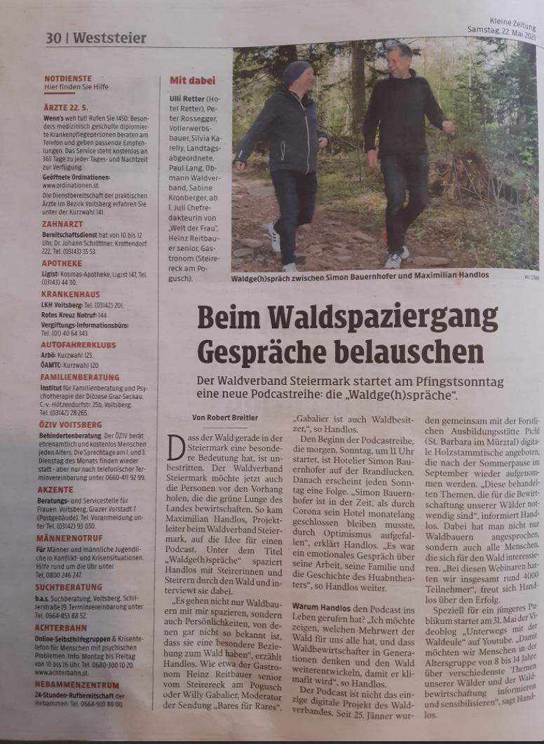 Waldgehspräche - Kleine Zeitung